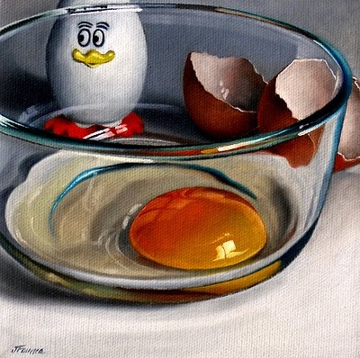 """Egg #8"" original fine art by Jelaine Faunce"