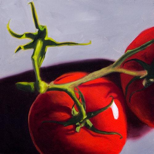 """Fresh Tomatoes"" original fine art by Lauren Pretorius"