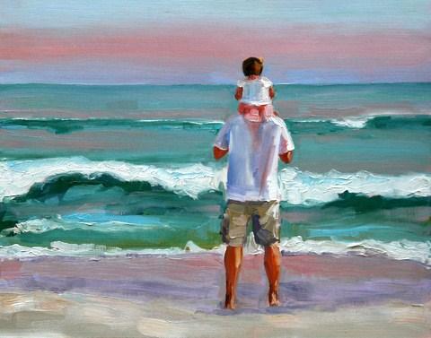 """""""daddy's girl"""" original fine art by Carol Carmichael"""