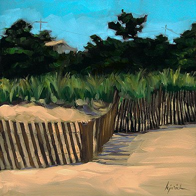 """Borderline"" original fine art by Karin Jurick"