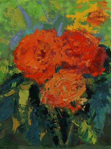 """Original Flower Oil Painting Flower Power by Colorado Artist Susan Fowler"" original fine art by Susan Fowler"