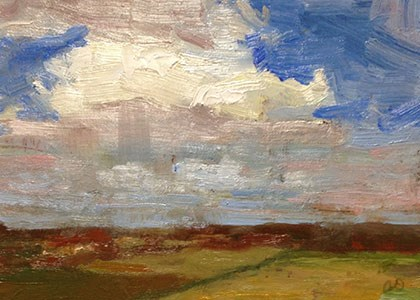 """Clouds Overhead"" original fine art by Fine Art of René"