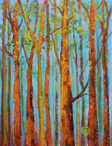 """Trees for Forest Contemporary Landscape Paintings by Arizona Artist Amy Whitehouse"" original fine art by Amy Whitehouse"
