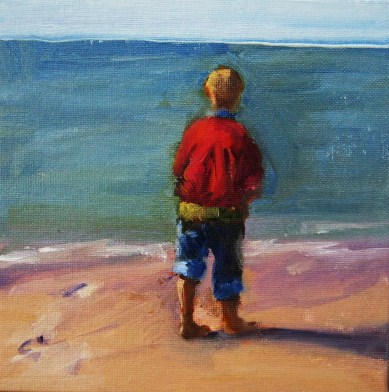 """Watching"" original fine art by Connie Snipes"