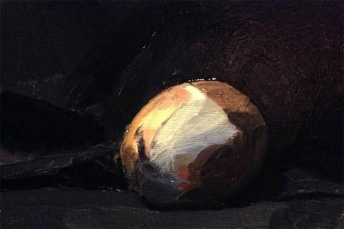 """Onion Like an Egg"" original fine art by Chris Beaven"