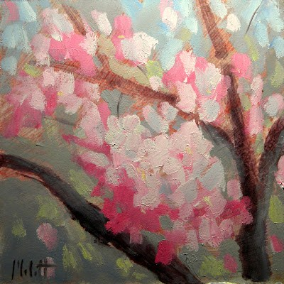 """Crab Apple Blossoms"" original fine art by Heidi Malott"
