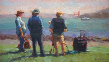 """Tiburon Painters"" original fine art by Carol Myer"