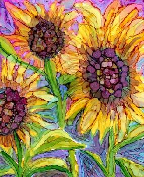 """""""Sunflower 2"""" original fine art by Kristen Dukat"""