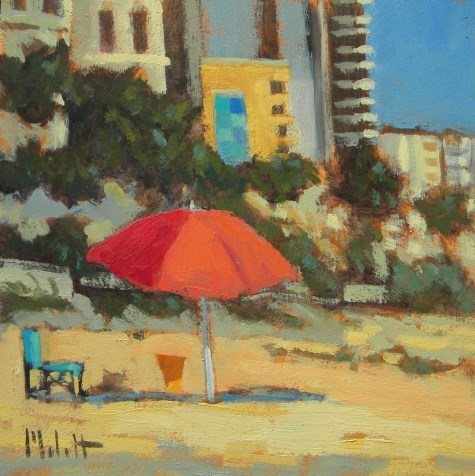 """Beach Holiday Colorful Impressionism Original Oil Painting"" original fine art by Heidi Malott"