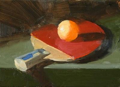 """""""Ping Pong"""" original fine art by Qiang Huang"""