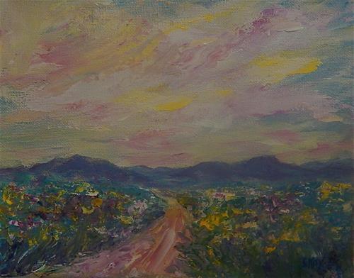 """Wildflower Explosion"" original fine art by Sharon Kay Baker"