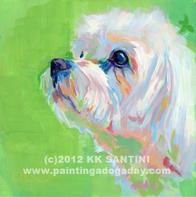 """Parker"" original fine art by Kimberly Santini"