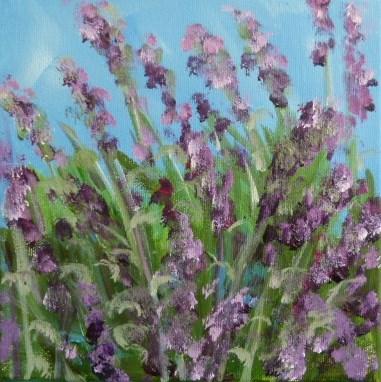 """""""Lavendelbusch"""" original fine art by Sabine Hüning"""