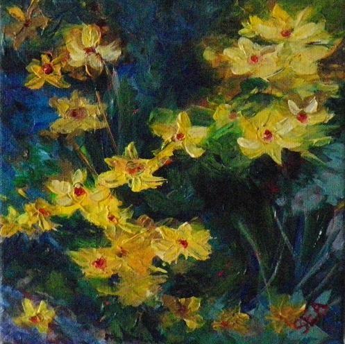 """2004 - Daisy Chain - Miniature Masterpiece Series"" original fine art by Sea Dean"