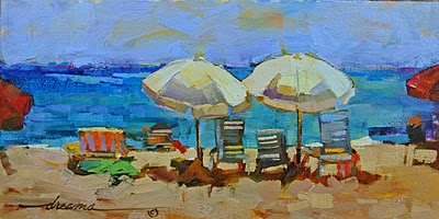 """Salty Coconut Breezes SOLD"" original fine art by Dreama Tolle Perry"