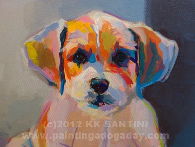 """Runt, In Process"" original fine art by Kimberly Santini"