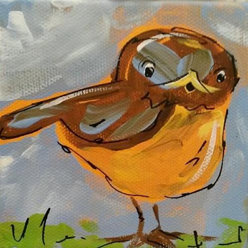 """Robin Chunky"" original fine art by Terri Einer"