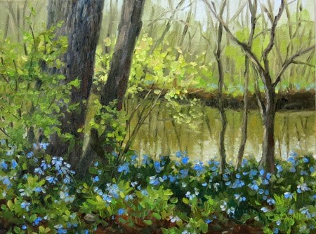 """'Bluebells In Spring' An Original Oil Painting by Claire Beadon Carnell"" original fine art by Claire Beadon Carnell"