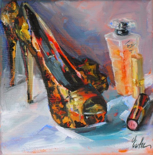 """Mère et fille"" original fine art by Evelyne Heimburger Evhe"