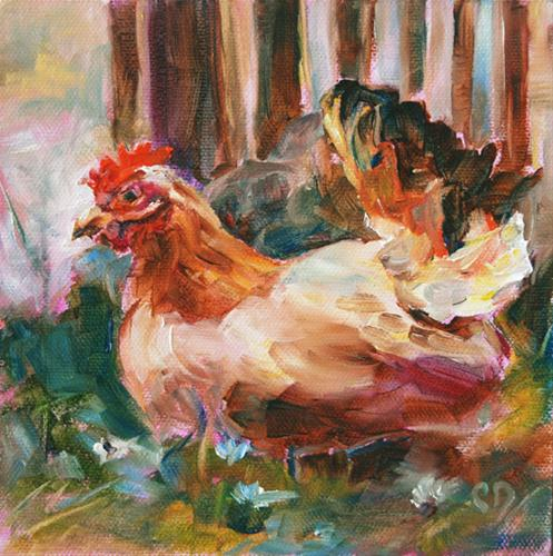 """Shake Your Tail Feathers"" original fine art by Carol DeMumbrum"