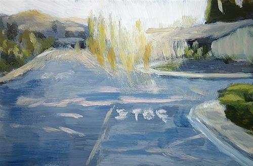 """Pittsburg CA"" original fine art by J. Farnsworth"