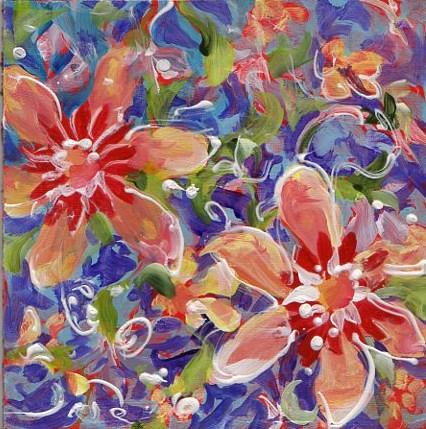 """Red Tile 3"" original fine art by Sue Dion"