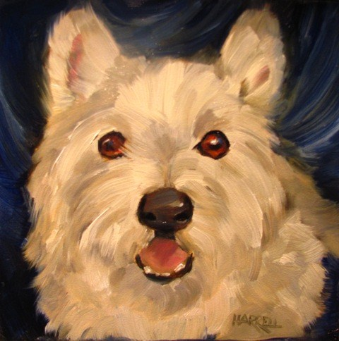 """Playtime?"" original fine art by Sue Harrell"