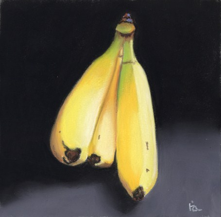 bananas anyone? original fine art by Ria Hills