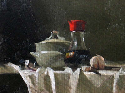 """Before Cooking ---  Sold"" original fine art by Qiang Huang"