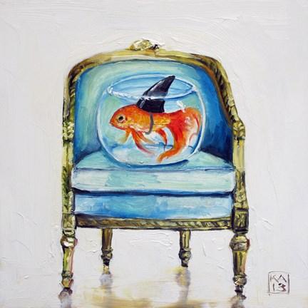 """jaws"" original fine art by Kimberly Applegate"