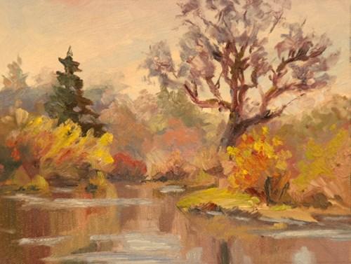 """GREENWAY WETLANDS SPRING"" original fine art by Karen E Lewis"