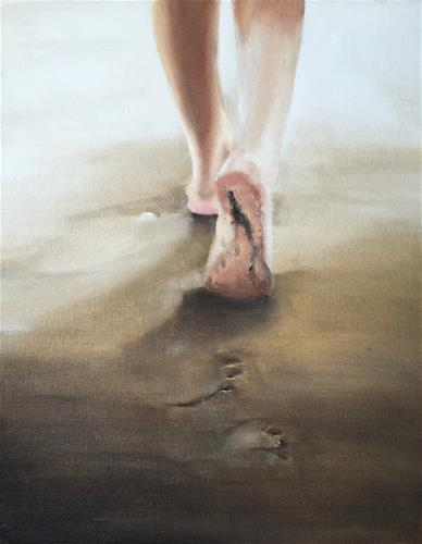"""Beach Walk"" original fine art by James Coates"