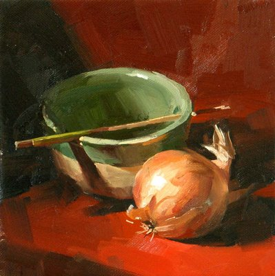 """What to Cook? --- Sold"" original fine art by Qiang Huang"
