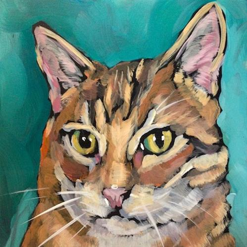 """March 23 Mo!  Or is this Bo?"" original fine art by Kat Corrigan"