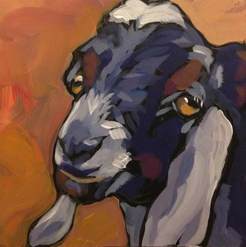 """Goat Lips"" original fine art by Kat Corrigan"