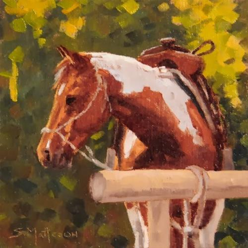 """Ready to Go"" original fine art by Susan Matteson"