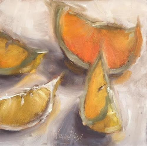 """Orange Glow 482"" original fine art by Laura  Buxo"