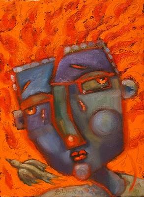 """Wildfire"" original fine art by Brenda York"