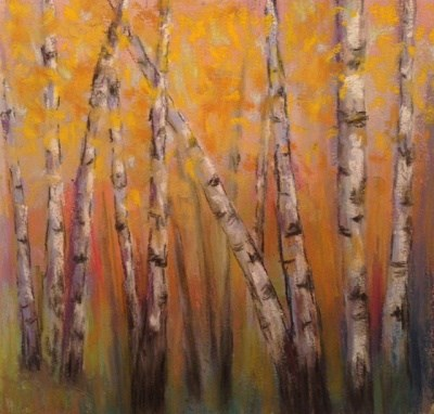 """Fall Aspen Trees"" original fine art by Angeli Petrocco Coover"