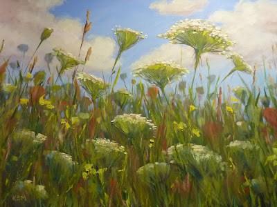 """""""Top 5 Favorite Paintings ... Wildflowers in Oil"""" original fine art by Karen Margulis"""