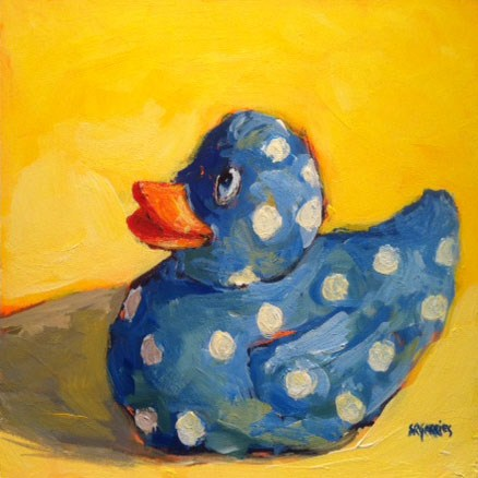 """ducky"" original fine art by Shelley Garries"