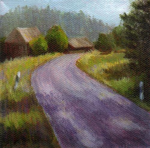 """The Bend in the Road"" original fine art by Debbie Shirley"