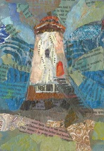 """""""Lighthouse Stands Proud"""" original fine art by Kara Butler English"""