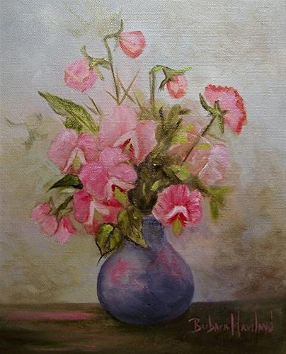 """A Bouquet of Sweet Peas"" original fine art by Barbara Haviland"