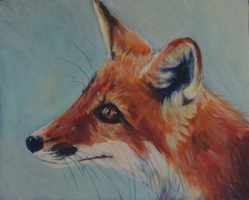 """Baby fox"" original fine art by Dawn Melka"