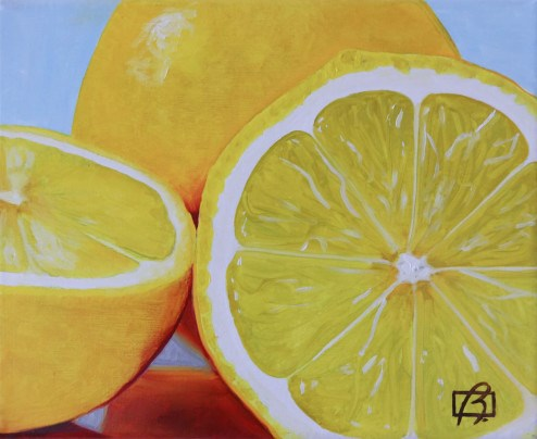 """Three Lemons"" original fine art by Andre Beaulieu"