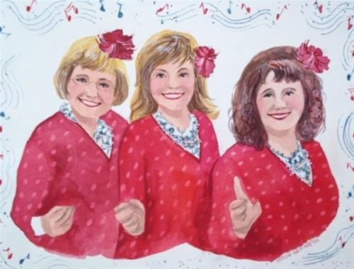 """The Singing Sorta Sisters"" original fine art by Margie Whittington"