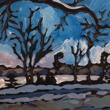"""Arched Branch, Lake Calhoun"" original fine art by Kat Corrigan"