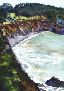 """Clear Sea"" original fine art by Mariko Irie"