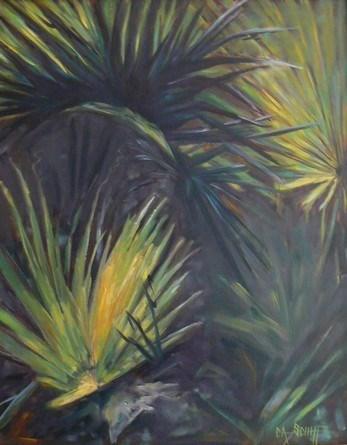 """""""Tropical Landscape Painting,  Shadows  by Carol Schiff, 16x20 Oil"""" original fine art by Carol Schiff"""
